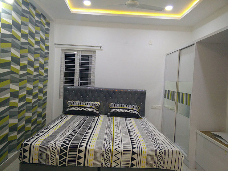 Mr Ravi Kumar PVR Meadows 3BHK Villa Modern style bedroom by Enrich Interiors & Decors Modern