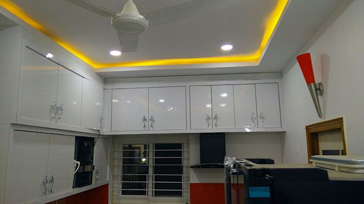 Mr Ravi Kumar PVR Meadows 3BHK Villa Enrich Interiors & Decors KitchenCabinets & shelves