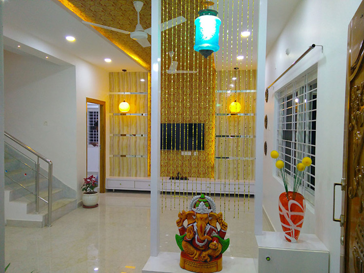 Enrich Interiors & Decors Modern Corridor, Hallway and Staircase