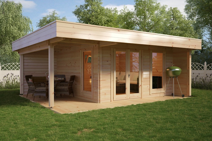 Garden Room Hansa Lounge XL Hansagarten24 Log cabin Wood