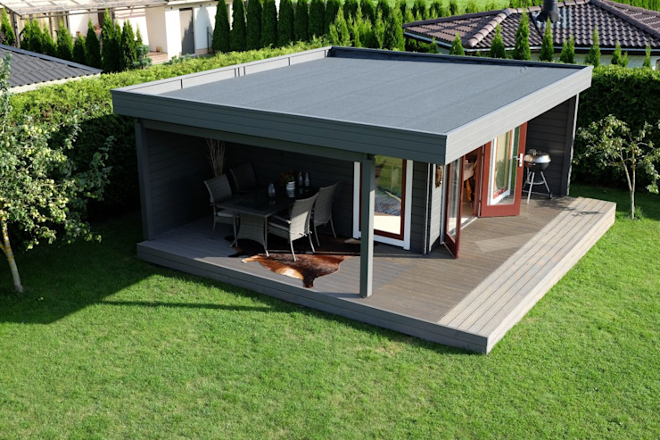 Hansa Lounge XL Hansagarten24 Log cabin Wood Grey