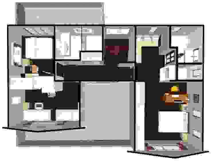 室內二樓平面圖: 斯堪的納維亞  by 安居住宅有限公司, 北歐風