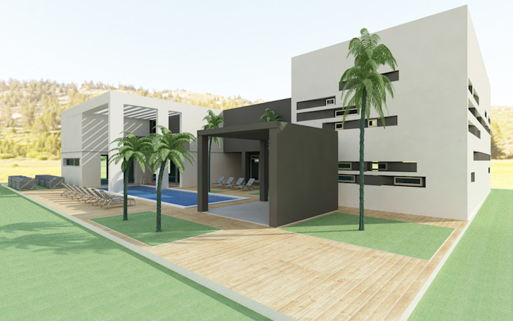 Luxe beauty center en SPA Moderne gezondheidscentra van MEF Architect Modern Beton