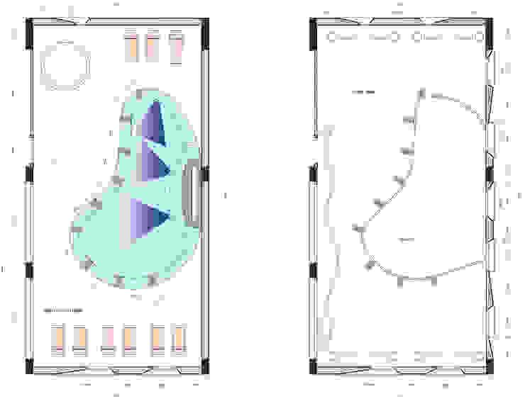 chromotherapie zwembad Moderne gezondheidscentra van MEF Architect Modern Keramiek