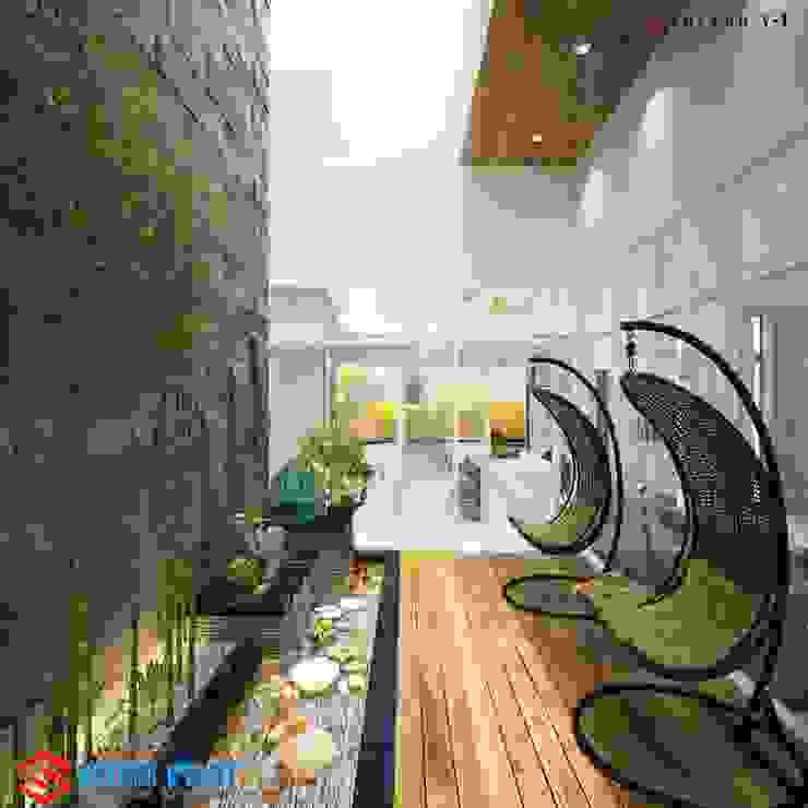 Hoàn thiện nội thất nhà phố 2019: hiện đại  by Công ty Thiết Kế Xây Dựng Song Phát, Hiện đại