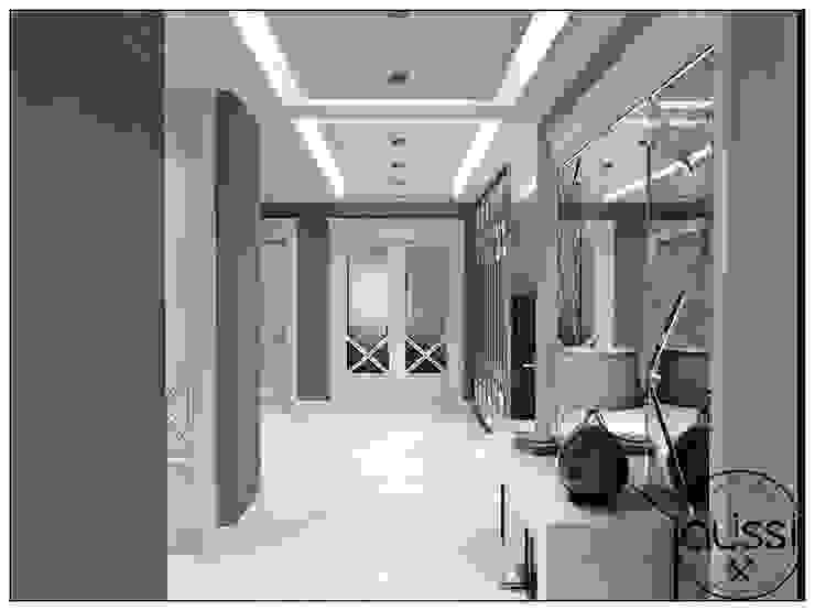 ห้องโถงทางเดินและบันไดสมัยใหม่ โดย ALİSSİ İÇ MİMARLIK โมเดิร์น