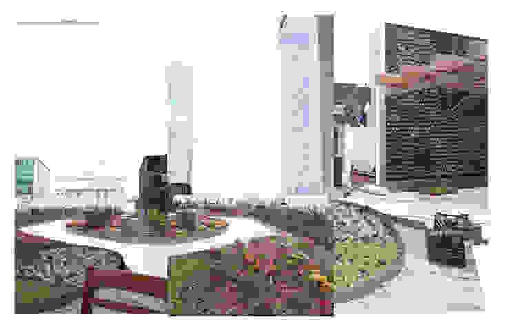 Designo Arquitectos 모던스타일 정원 대나무 녹색