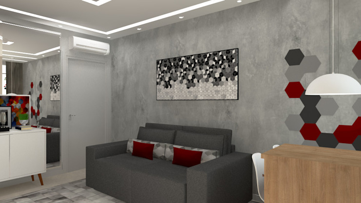 Modern living room by Bruna Ferraresi Modern Concrete