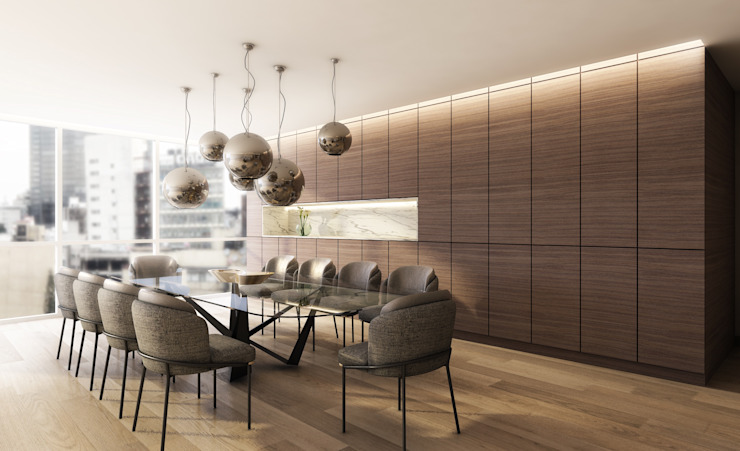 Modern Dining Room by Sulkin Askenazi Modern