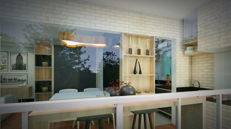 Studio MP Interiores Modern Terrace MDF Wood effect