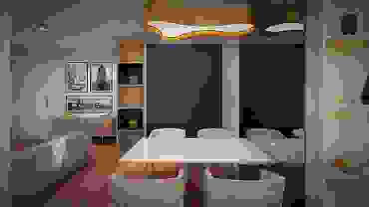 Studio MP Interiores Modern Dining Room MDF Wood effect