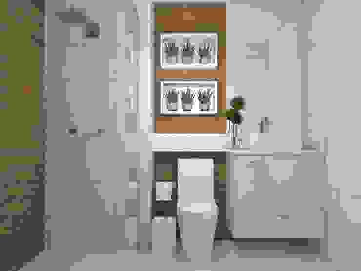 Studio MP Interiores Modern Bathroom Ceramic Wood effect