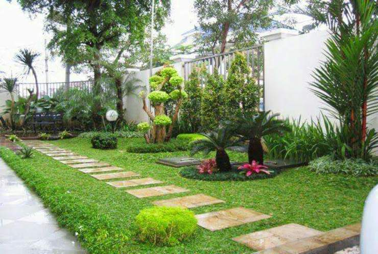 Taman Halaman Samping Oleh Tukang Taman Surabaya - Tianggadha-art Minimalis Batu