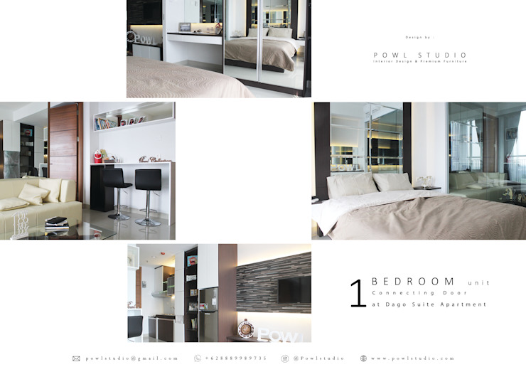 Dago Suite –  Tipe 1 Bedroom Connecting Door:modern  oleh POWL Studio, Modern