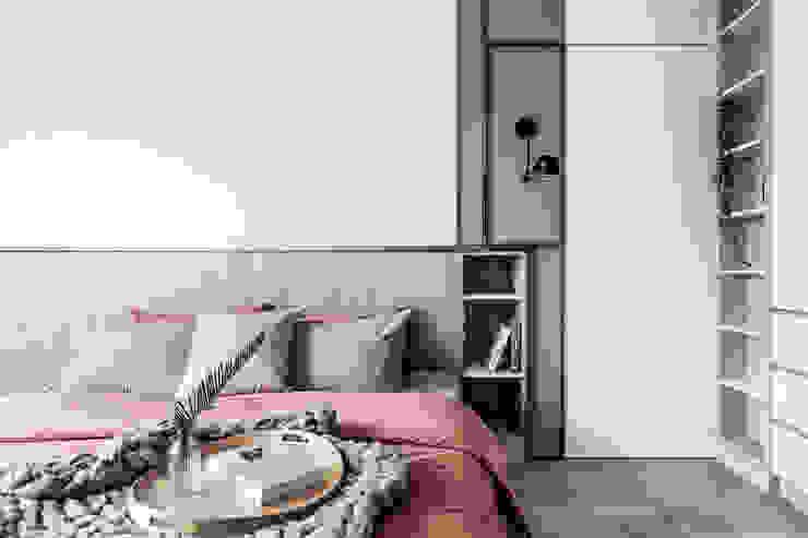 中古翻新生活宅 臥室床頭隱藏門 達譽設計 臥室
