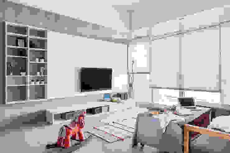 中古翻新生活宅 客廳就是生活遊憩區 達譽設計 客廳