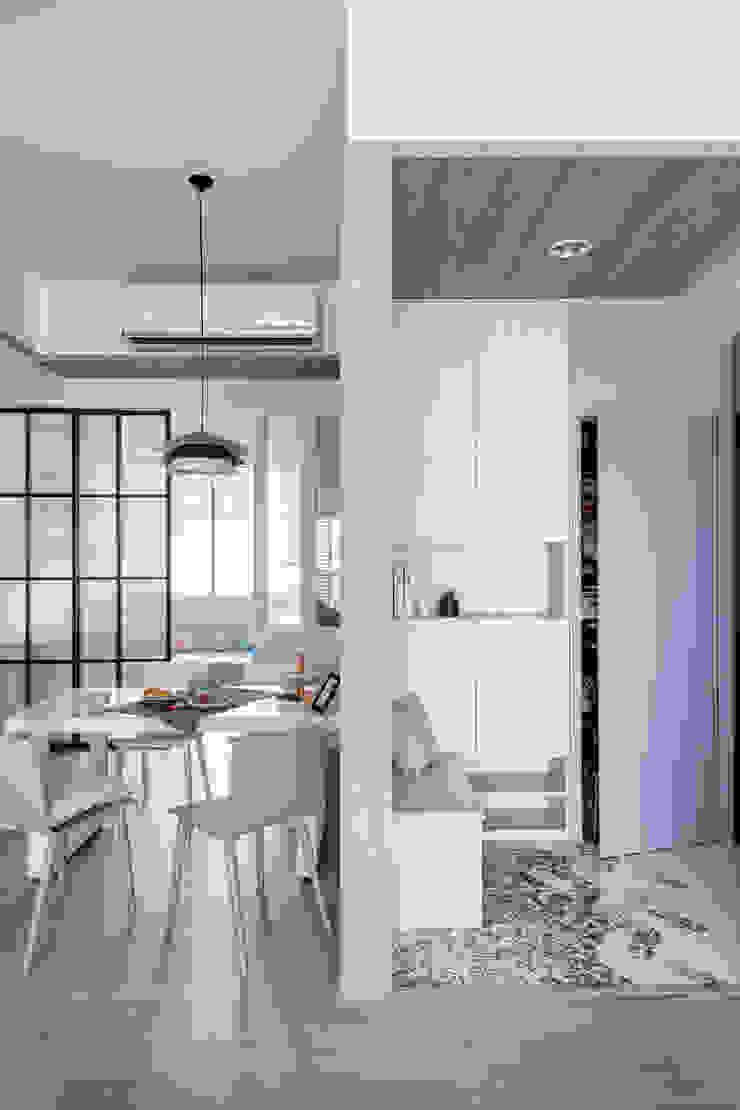中古翻新生活宅 巧思落塵區 達譽設計 斯堪的納維亞風格的走廊,走廊和樓梯