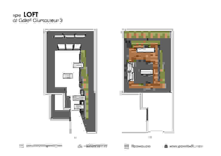 Denah apartemen:  oleh POWL Studio,