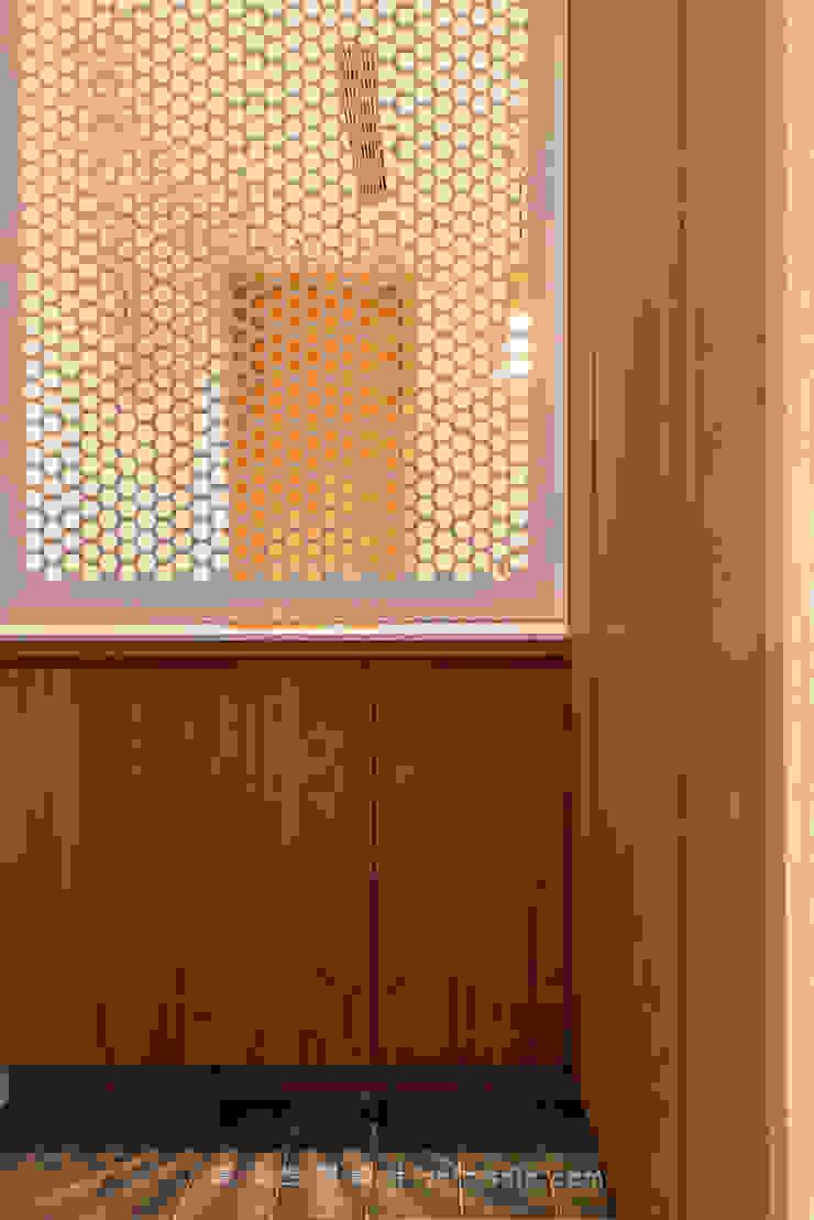 entrance 亞洲風玄關、階梯與走廊 根據 湜湜空間設計 日式風、東方風 金屬