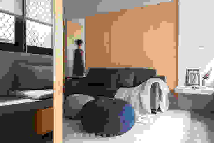 living area 根據 湜湜空間設計 日式風、東方風 合板