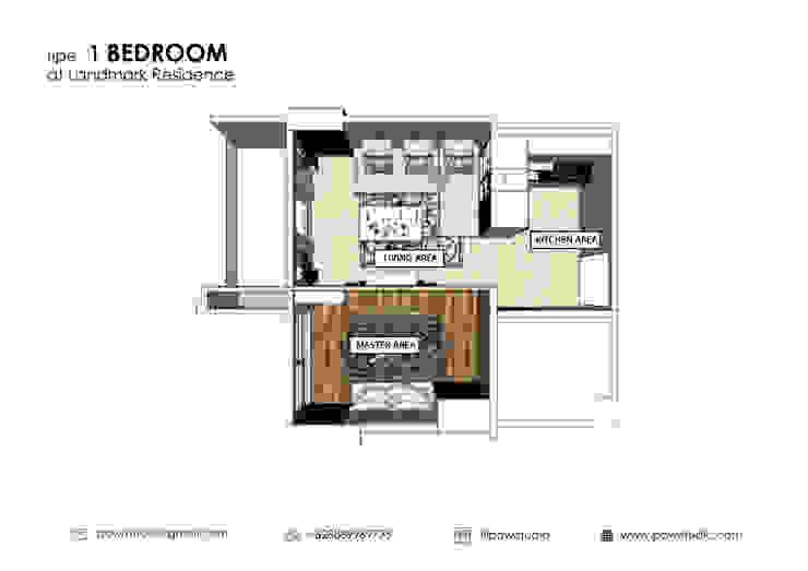 Denah Apartemen:modern  oleh POWL Studio, Modern