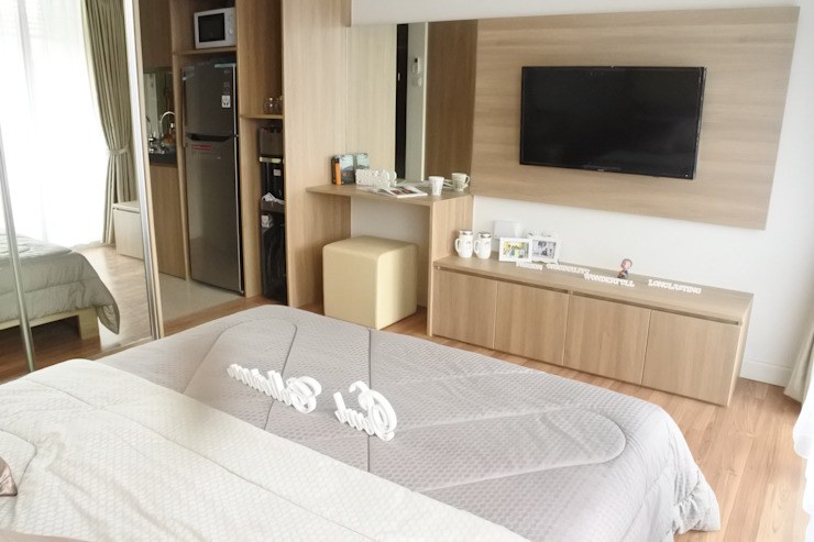 Apartemen Landmark – Tipe Studio Kamar Tidur Modern Oleh POWL Studio Modern