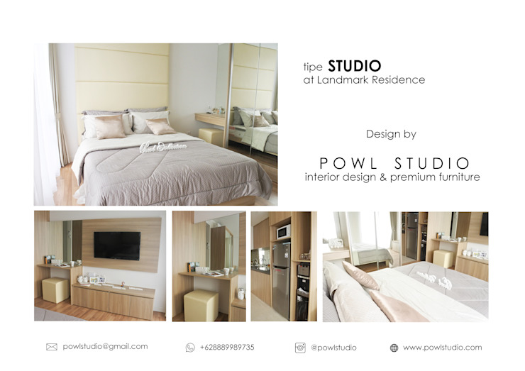 Apartemen Landmark – Tipe Studio:modern  oleh POWL Studio, Modern