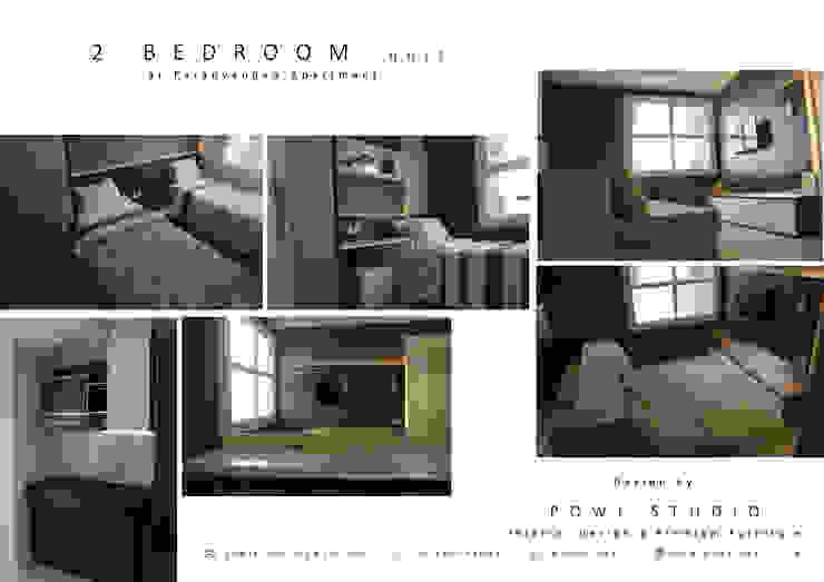 Parahyangan Residence 12 CH – Tipe 2 Bedroom:modern  oleh POWL Studio, Modern