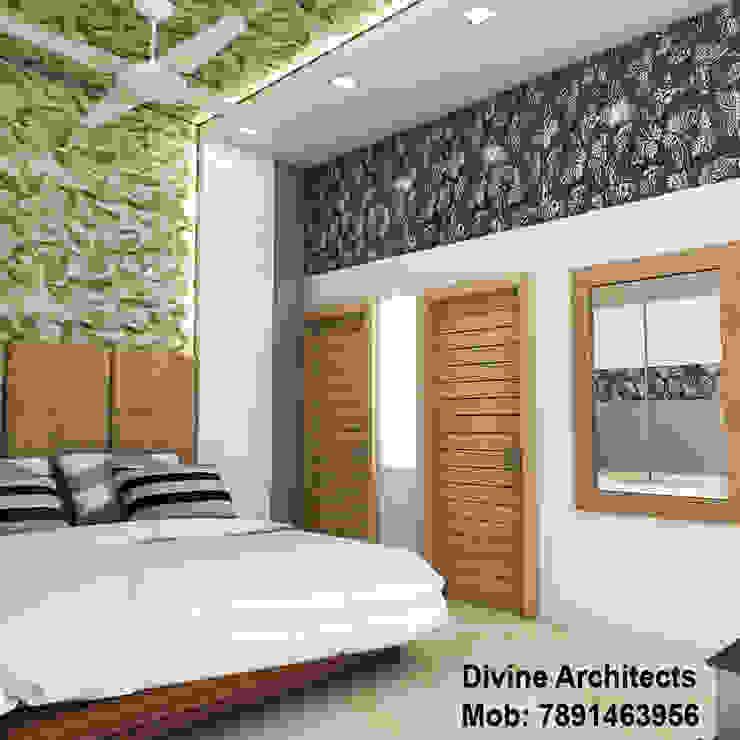 Bedroom interior design for mr. Shyam Gupta Bikaner Rajasthan divine architects Modern style bedroom