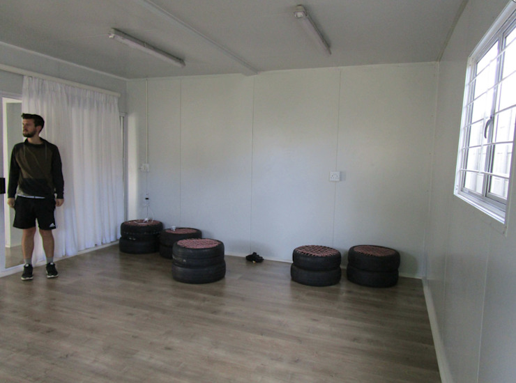 Container Housing for Ubuntu Football Club by Container Rental and Sales (Pty) Ltd Rustic