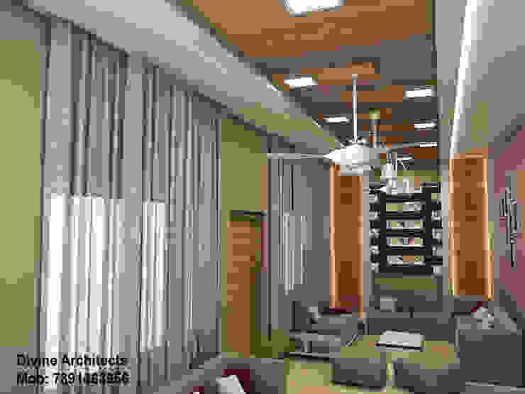 Villa Interior design for mr. Divyarth duveymahindra sez ajmer road jaipur divine architects Modern living room