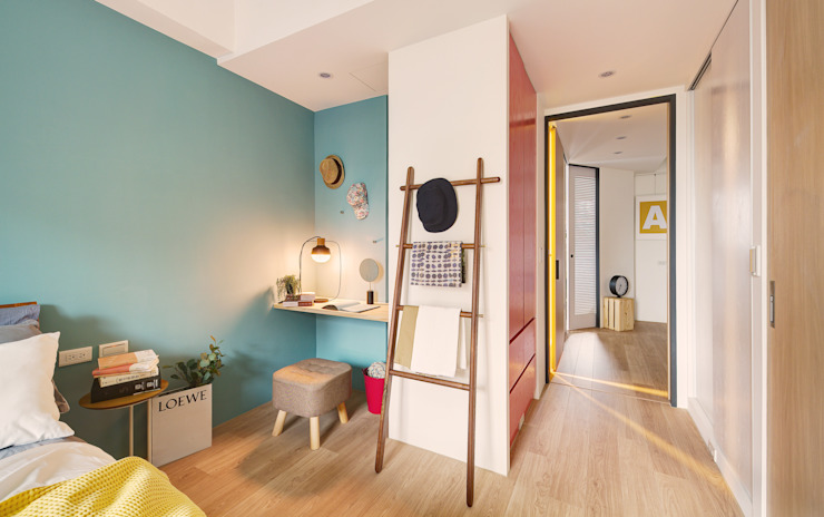 Scandinavian style dressing room by 一葉藍朵設計家飾所 A Lentil Design Scandinavian