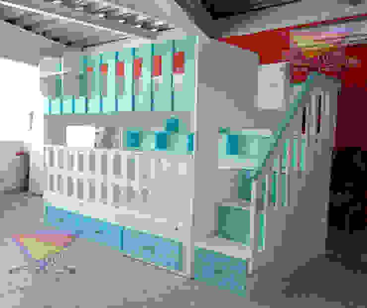 Preciosa litera juvenil con cuna de camas y literas infantiles kids world Moderno Derivados de madera Transparente