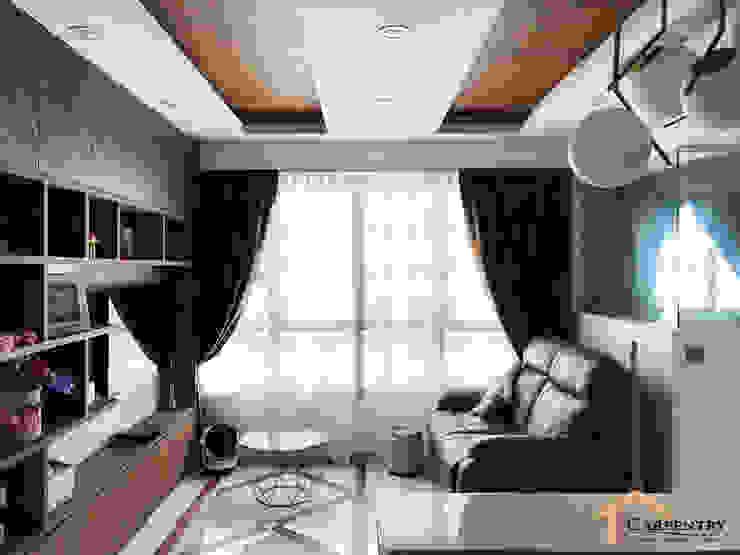 Contemporary style at Tenteram Peak Modern living room by Singapore Carpentry Interior Design Pte Ltd Modern