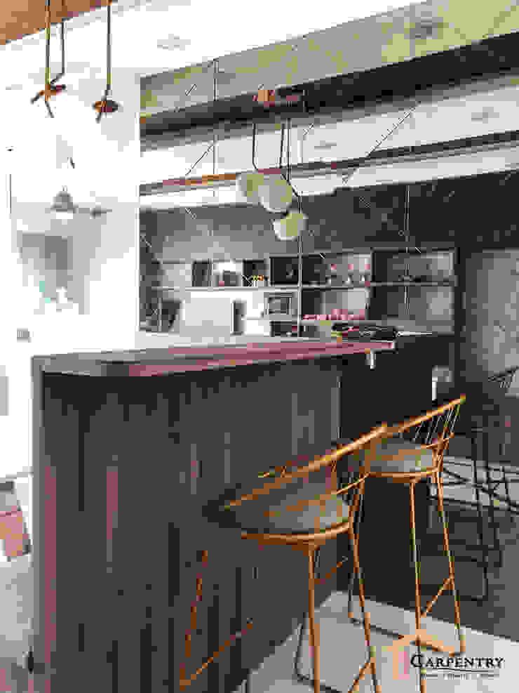 Contemporary style at Tenteram Peak Modern dining room by Singapore Carpentry Interior Design Pte Ltd Modern