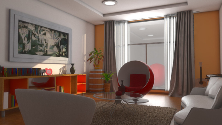Plano 13 Living room Multicolored