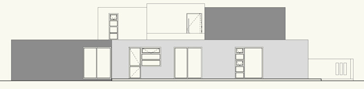 ELEVACION PONIENTE de Cota Cero Arquitectos Moderno