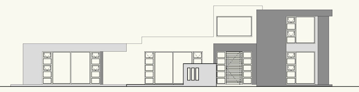 ELEVACION SUR (ACCESO) de Cota Cero Arquitectos Moderno