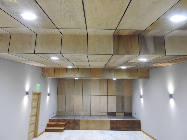 Auditorio PATIO CONDELL Salas multimedia de estilo moderno de U.R.Q. Arquitectura Moderno Madera Acabado en madera