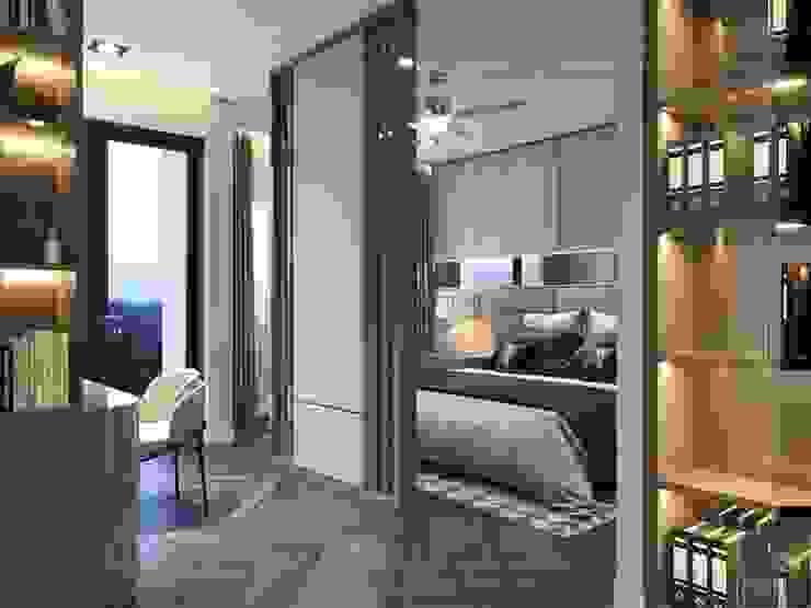 Thiết kế nội thất nhà phố, biệt thự phong cách hiện đại Phòng ngủ phong cách hiện đại bởi ICON INTERIOR Hiện đại
