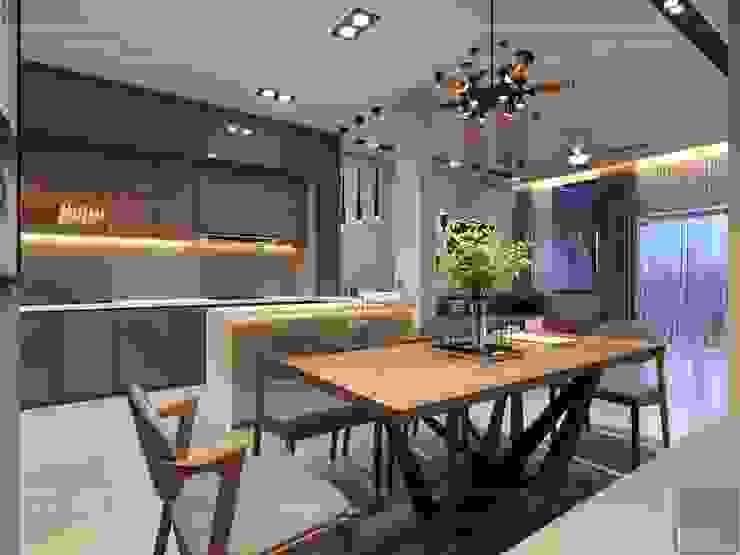 Thiết kế nội thất nhà phố, biệt thự phong cách hiện đại Phòng ăn phong cách hiện đại bởi ICON INTERIOR Hiện đại