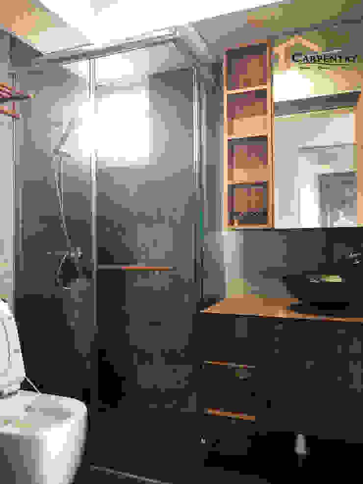 Contemporary style at Tenteram Peak Modern bathroom by Singapore Carpentry Interior Design Pte Ltd Modern