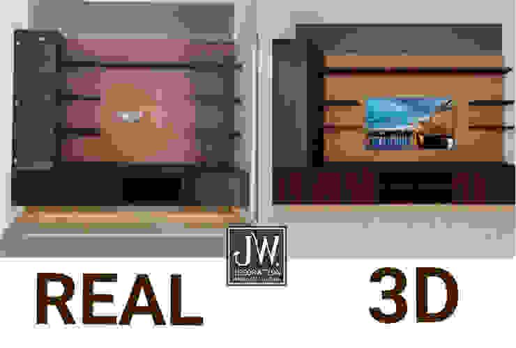 Гостиная в стиле модерн от JW Decoration Модерн Фанера