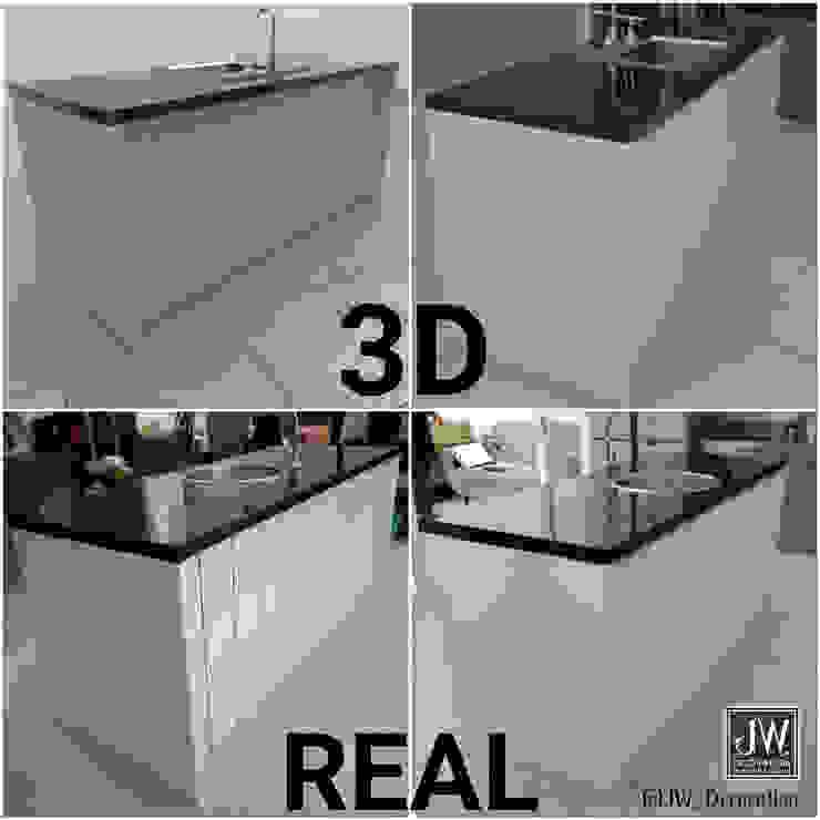 Ibu Meliantha , Citra Garden 2 Ext – Jakarta Barat JW Decoration KitchenCabinets & shelves Granit White