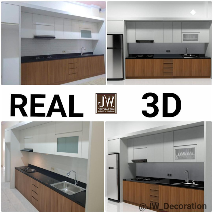 Pak William, Jembatan 5 - Jakarta Barat JW Decoration KitchenCabinets & shelves Kayu Lapis Wood effect