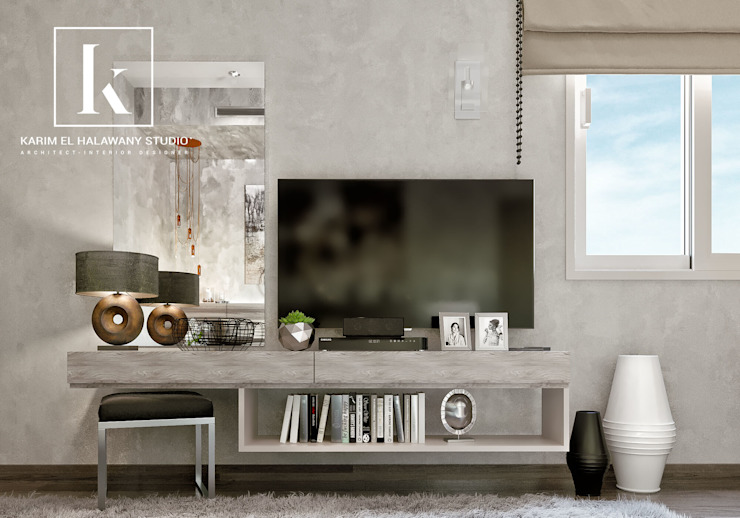 Sheraton Helioplis Appartment Modern style bedroom by Karim Elhalawany Studio Modern