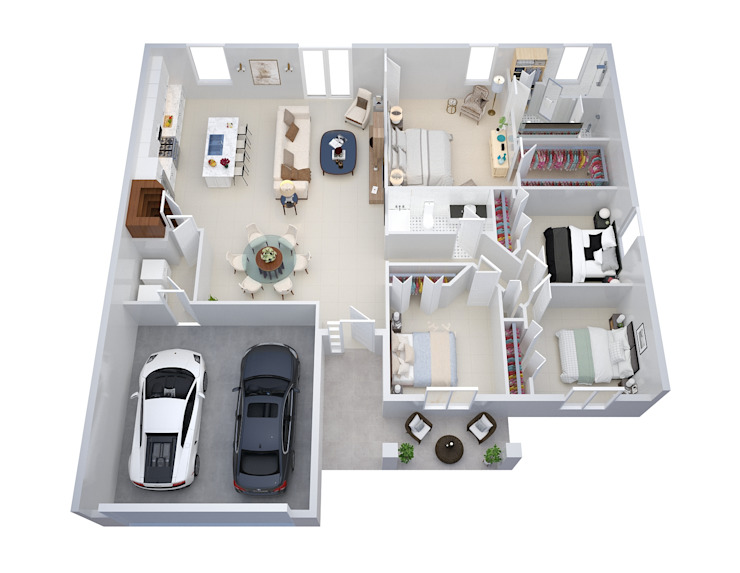 Convert Floor Plans 根據 The 2D3D Floor Plan Company