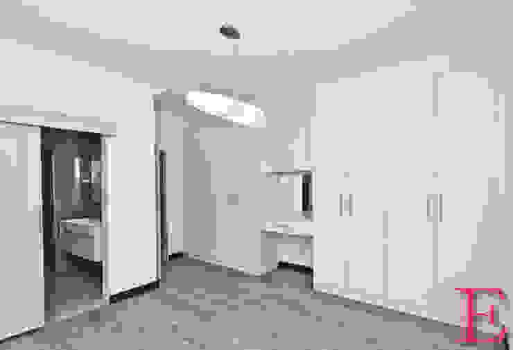 Minimalistic White Bedroom Cupboards Minimalist bedroom by Ergo Designer Kitchens Minimalist Engineered Wood Transparent