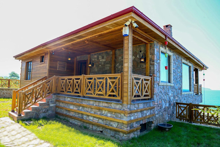 Villas by Gürsoy Kerestecilik, Rustic Wood Wood effect