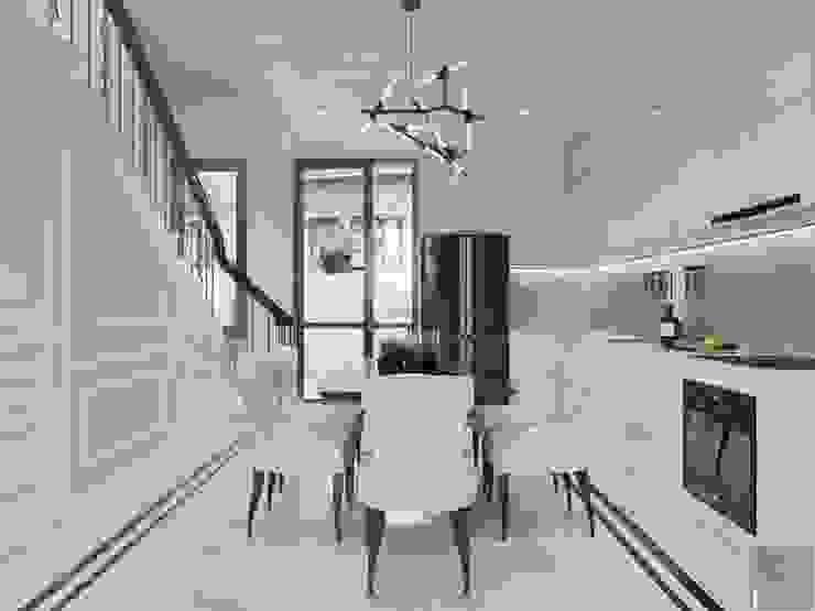 Thiết kế nội thất biệt thự phong cách Tân Cổ Điển sang trọng đẳng cấp Phòng ăn phong cách kinh điển bởi ICON INTERIOR Kinh điển